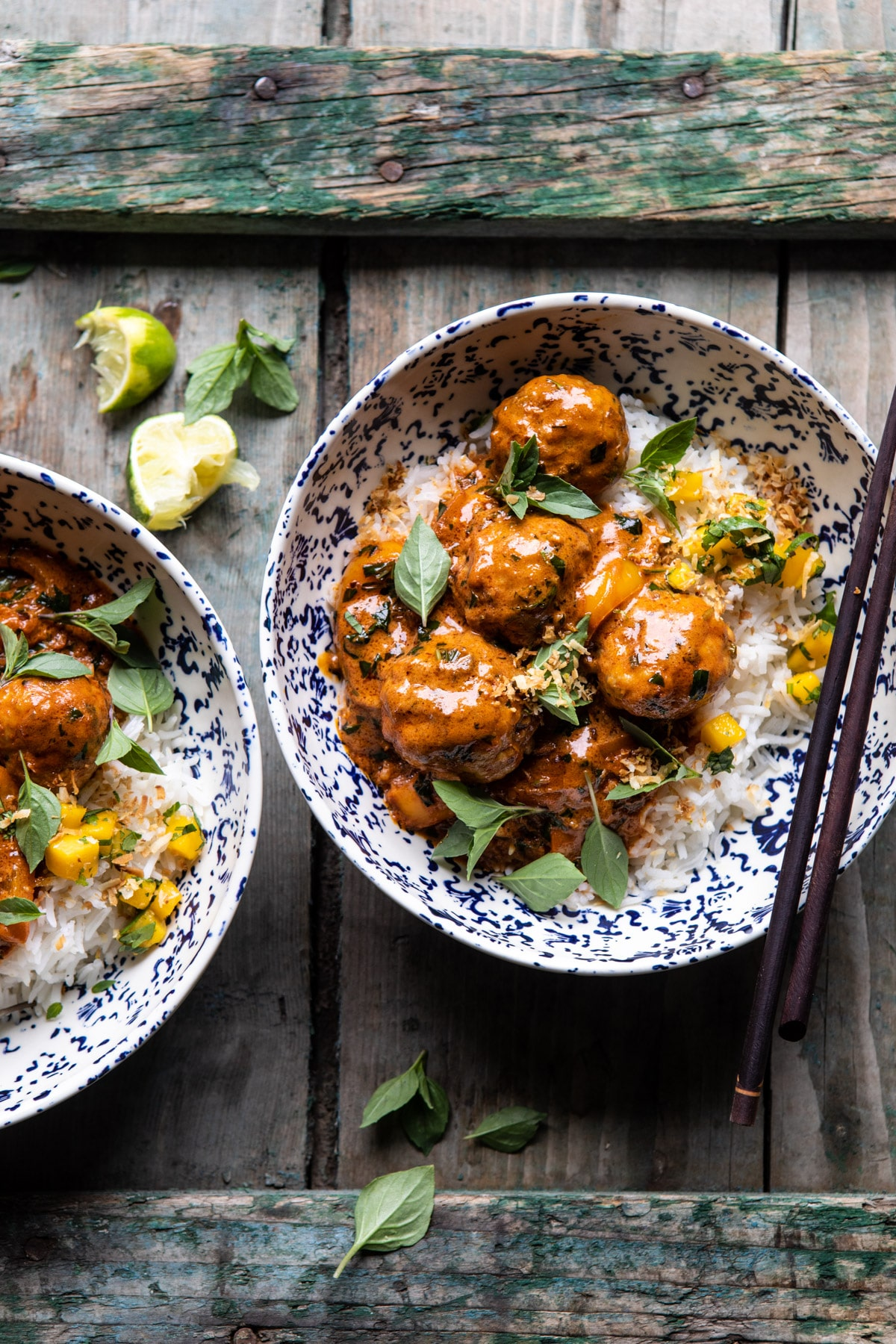 Weeknight 30 Minute Coconut Curry Chicken Meatballs